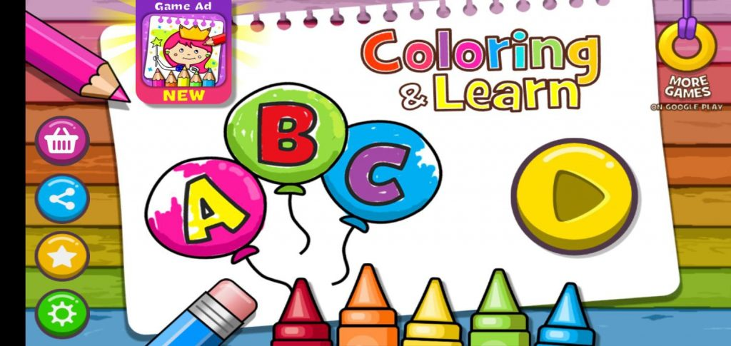 Game Coloring & Learn